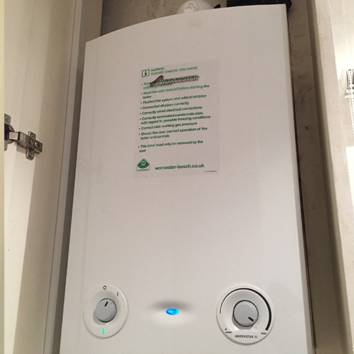 Installation of Worcester Greenstar 24ri Gas Compact Heating Only Boiler ERP
